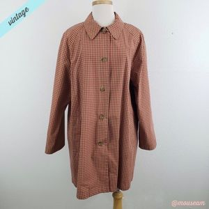 [GAP] VTG Gingham Red/Tan Trenchcoat